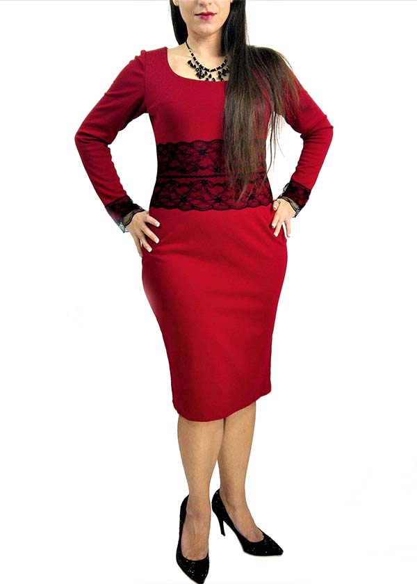 bespoke red dress Toronto