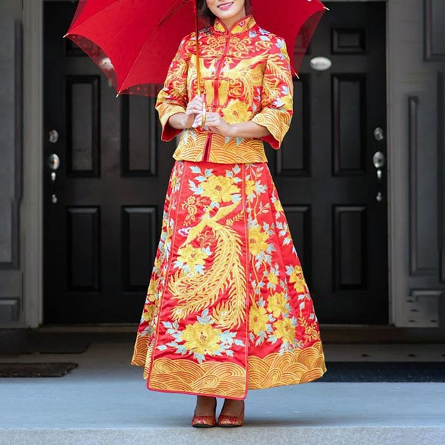 Chinese wedding dress Alterations Long Feng Guo