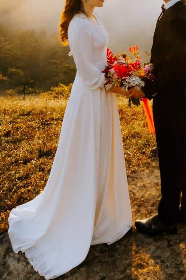 A Line Bridal Gown