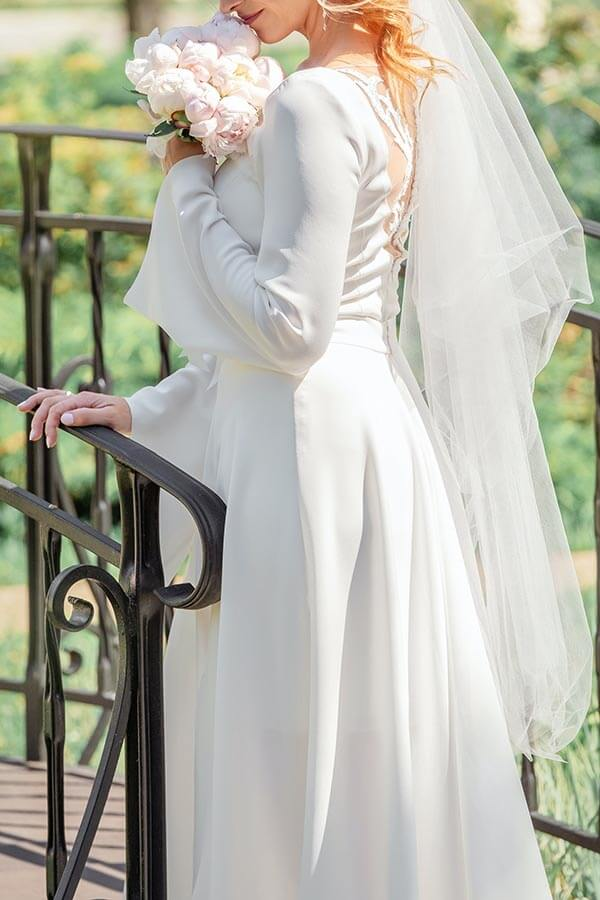 Lace Tattoo Effect Wedding Dress