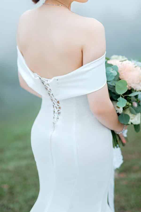 off shoulders Wedding Dress